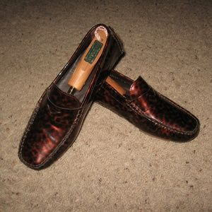 Cole Haan Patent Leather Driving Moccasins  9B